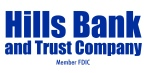 Hills Bank member fdic logo - blue